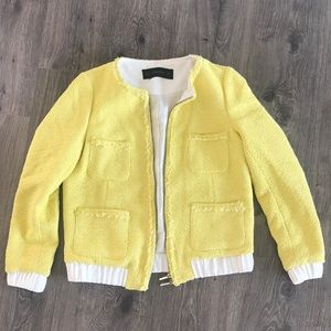Zara Yellow Tweed Jacket M - BNWT